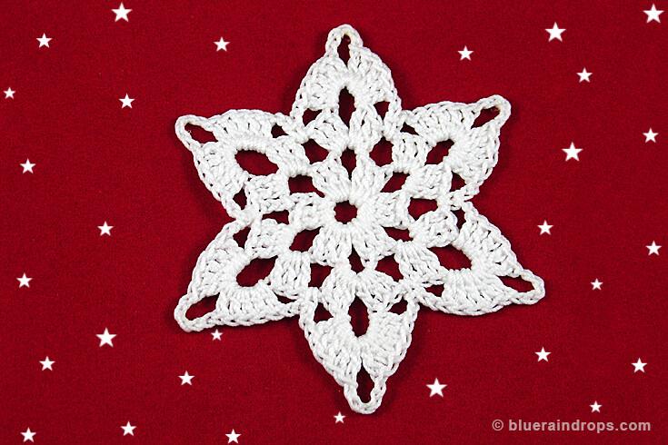 crochet motif snowflake