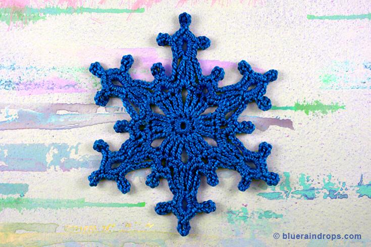 crochet pattern snowflake