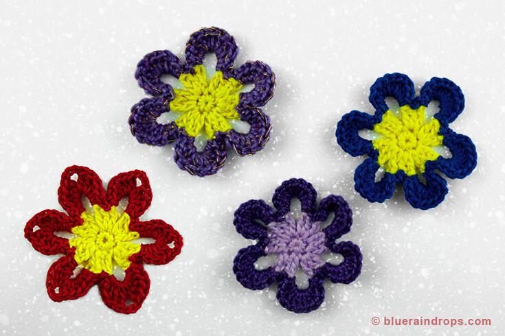 crochet pattern flower motif