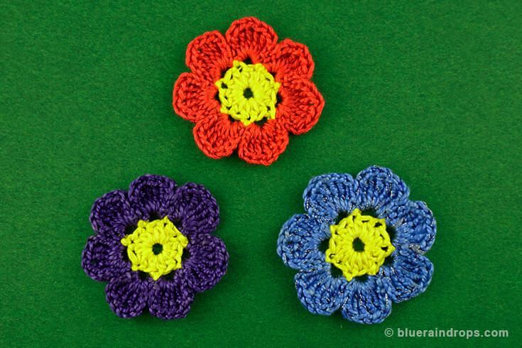 πλέξιμο με το βελονάκι λουλούδι