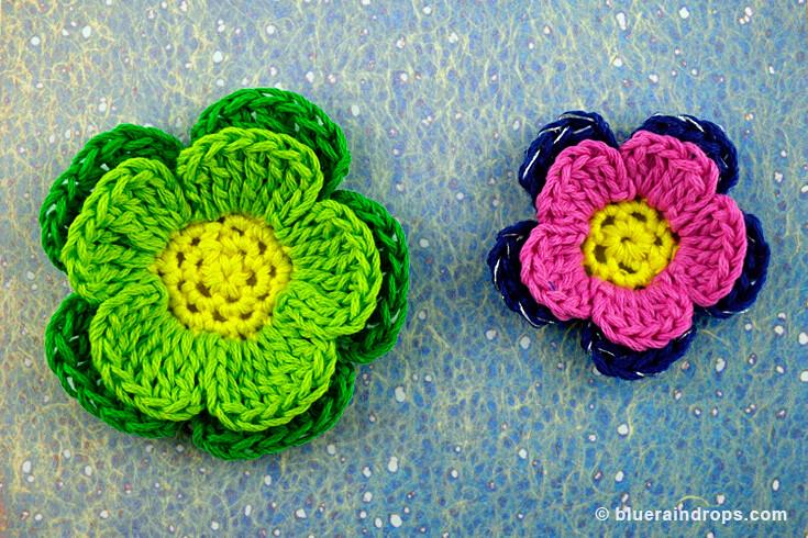 δωρεάν σχέδιο πλέξιμο λουλούδι