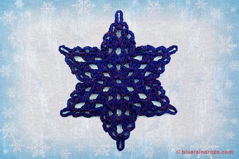 crochet snowflake free motif