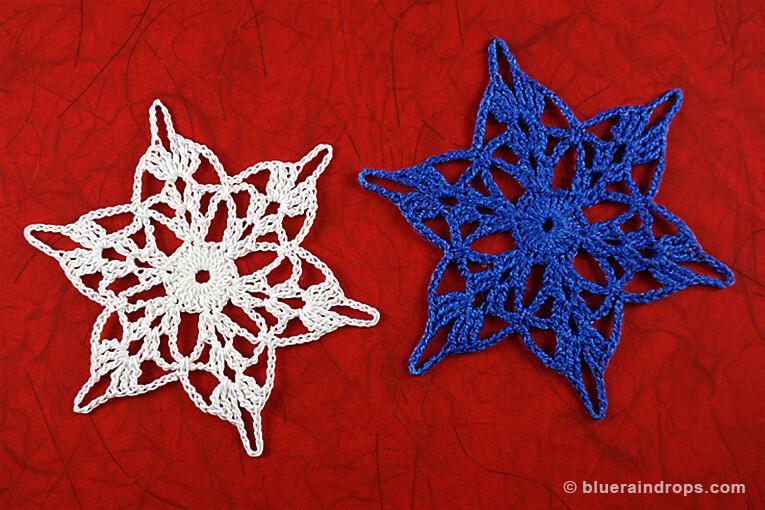 free crochet snowflake motif