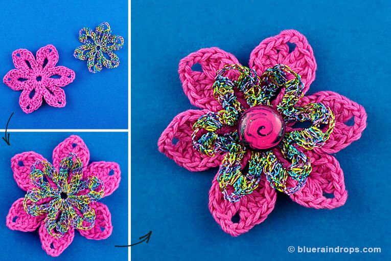 μάθημα για πλέξιμο λουλούδι