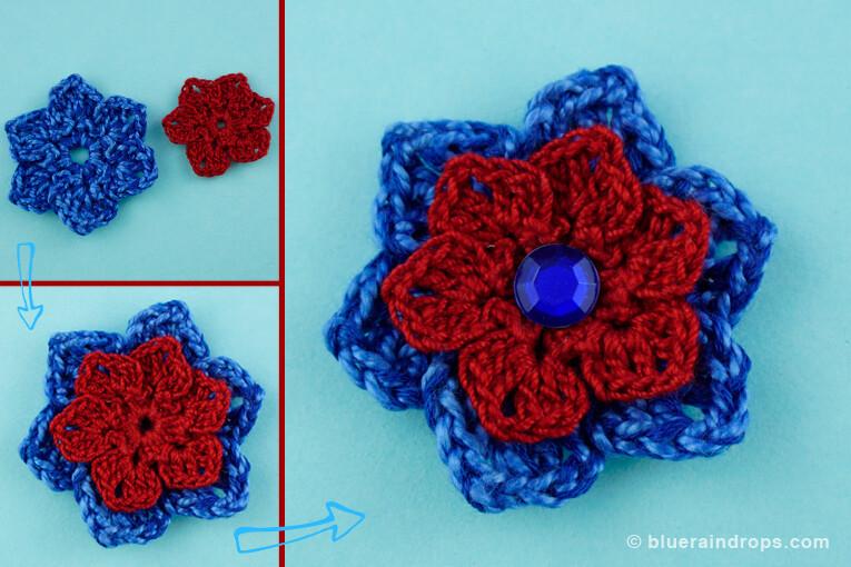 λουλούδι πλεγμένο με βελονάκι