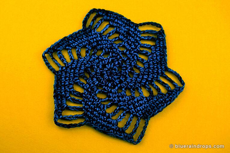 crochet pinwheel motif free pattern
