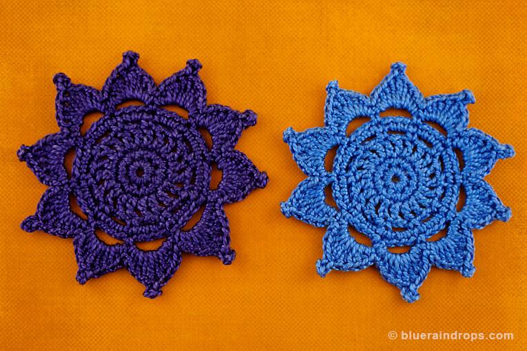 crochet sun motif