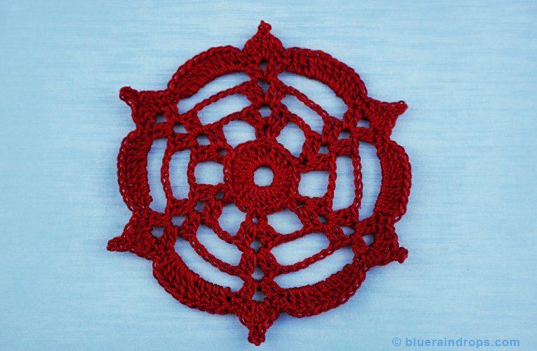 crochet lace spoke circle