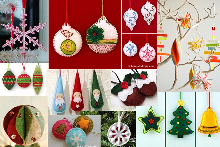 10 diy felt christmas ornaments - Felt Christmas Ornaments
