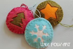 10 Diy Felt Christmas Ornaments Blueraindrops Arts And Crafts