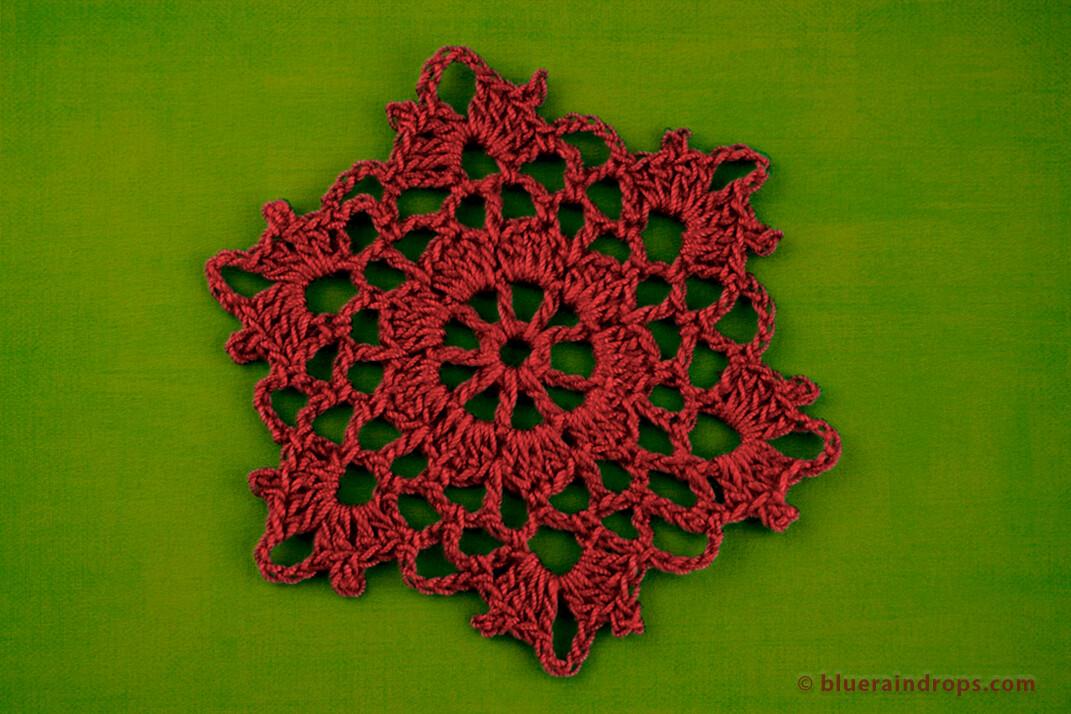 Crochet Flower Snowflake