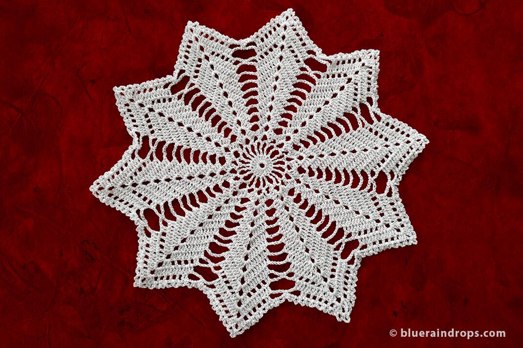crochet star doily free pattern