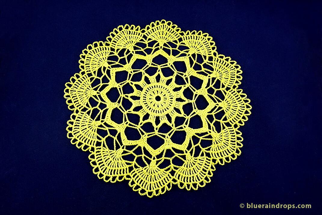 crochet elegant lace doily