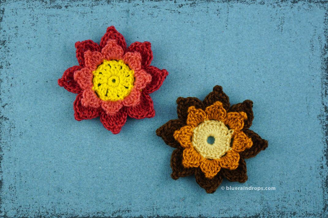 Εντυπωσιακό Πλεκτό Λουλούδι #2