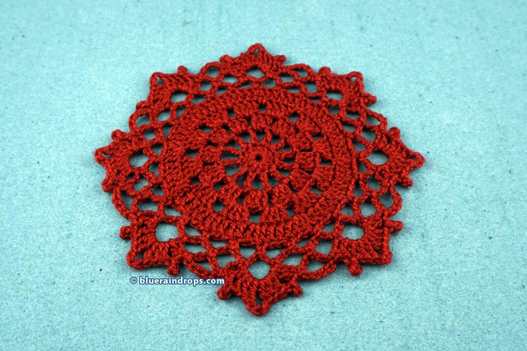 Crochet Octagon Coaster Pattern