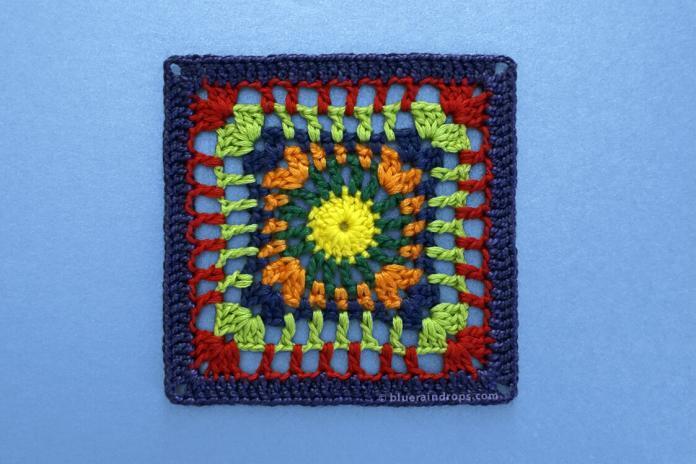 Simple Openwork Crochet Square